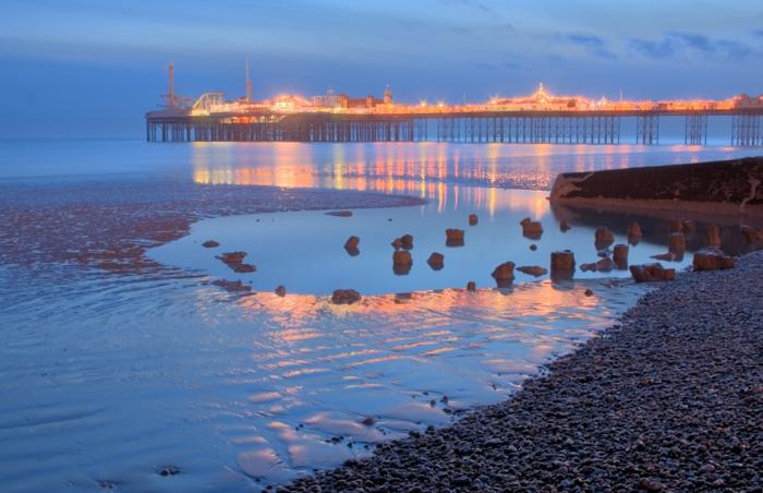 Angleterre-UK-Brighton-cité-touristique-et-historique-le-pont-pier