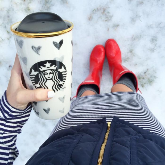 Boire-café-dans-tasse-isotherme-tasse-thermos-petit-coeurs-starbucks-mug