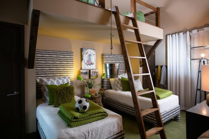 Bonne-idée-déco-chambre-ado-décoration-chambre-bois-et-vert