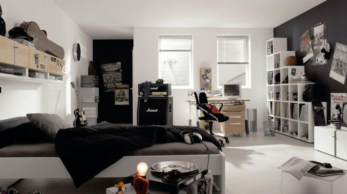 Bonne-idée-déco-chambre-ado-décoration-chambre-garçon-noir-et-blanc
