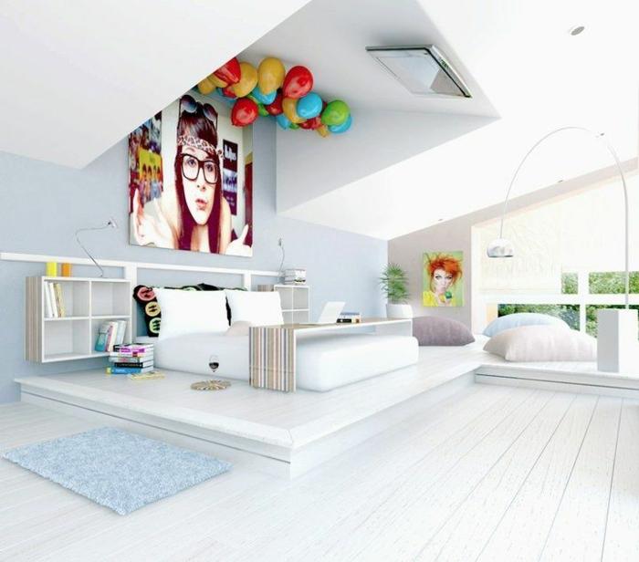 Bonne-idée-déco-chambre-ado-décoration-chambre-tout-blanc
