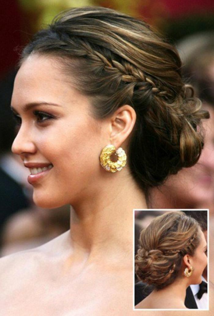 Idée-coiffure-jolie-le-chignon-tressé-original-coiffure-cool