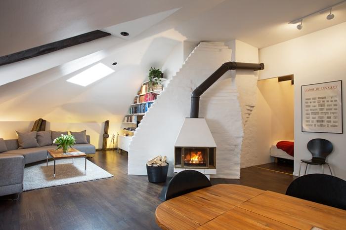 Idée-intérieur-design-poele-godin-poele-à-bois-blanc-mur