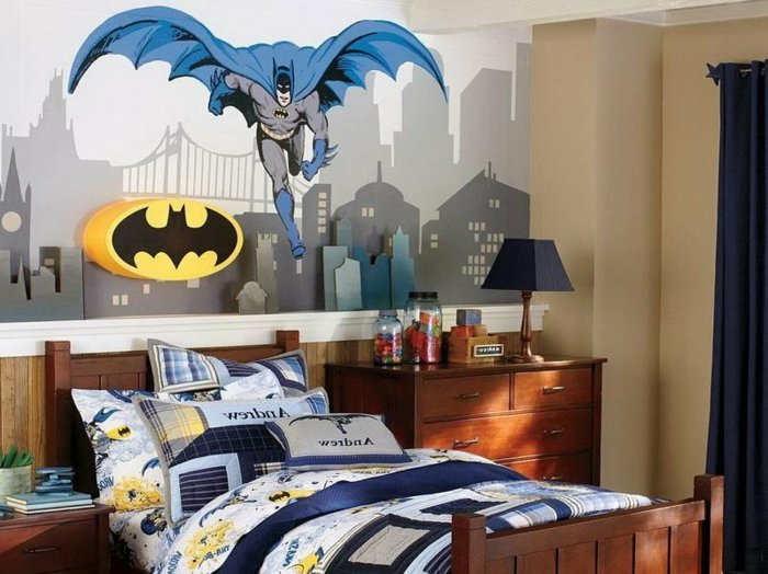 Idée-quel-lustre-chambre-enfant-chosir-bon-option-batman