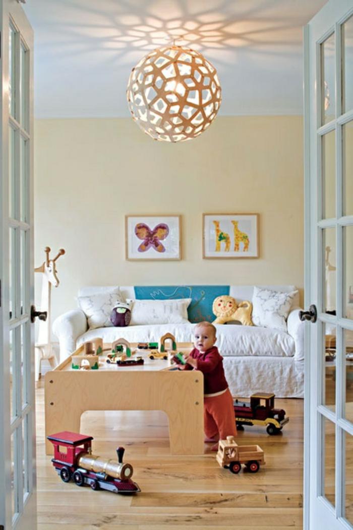 Idée-quel-lustre-chambre-enfant-chosir-bon-option-ronde