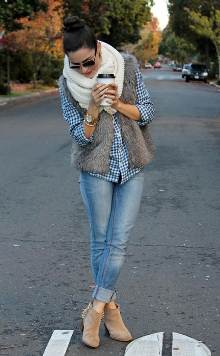 Idée-quelle-echarpe-ronde-porter-moderne-jean