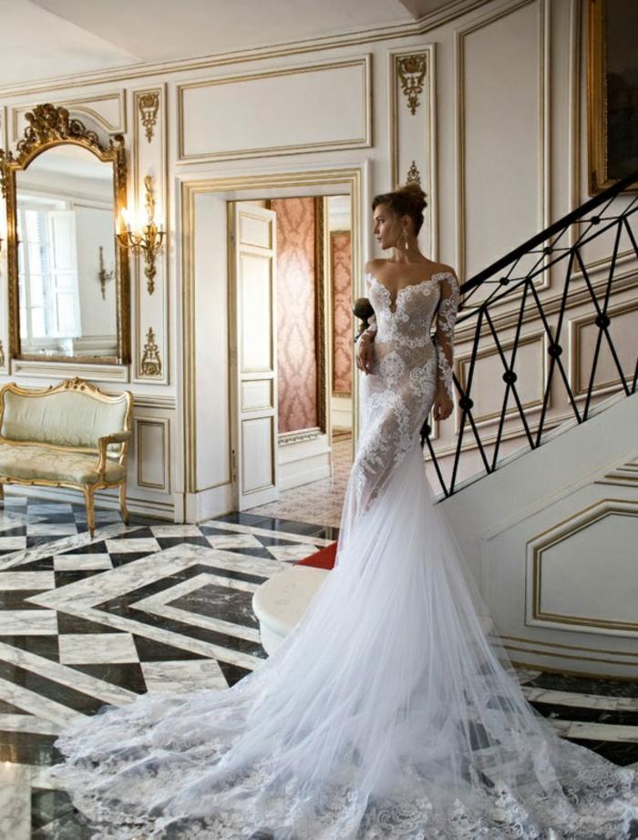 La-plus-belle-robe-de-mariee-hiver-longue-front-view-blanche-dentelle-resized
