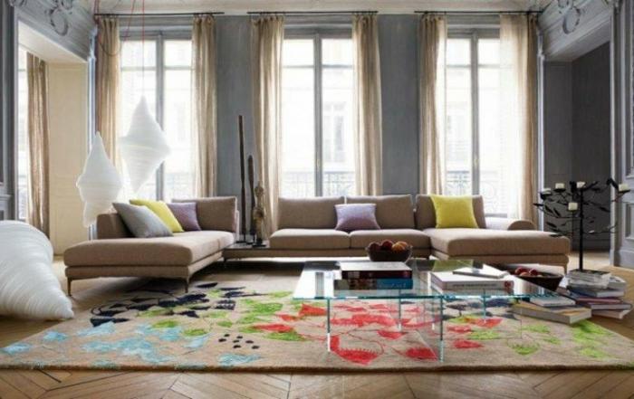 habillez les plancher de votre maison avec un tapis color. Black Bedroom Furniture Sets. Home Design Ideas
