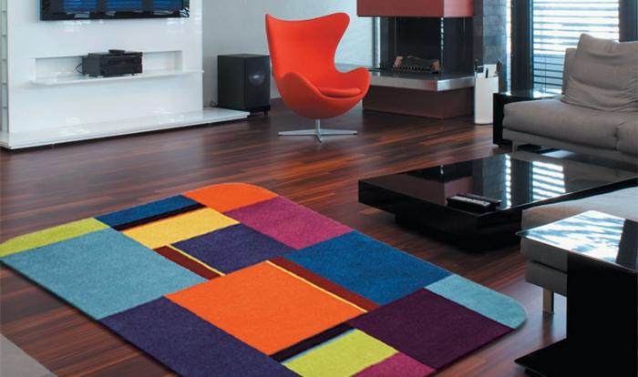 Le-tapis-colore-bon-pour-la-salle-de-séjour-lux-carreau
