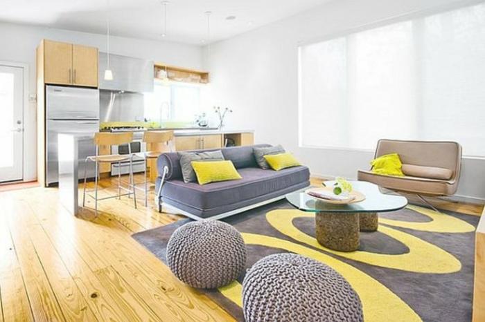 Le-tapis-colore-bon-pour-la-salle-de-séjour-lux-gris-et-jaune
