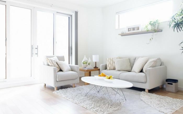 Le-tapis-de-salon-modern-salle-de-séjour-contémporaine-blanc