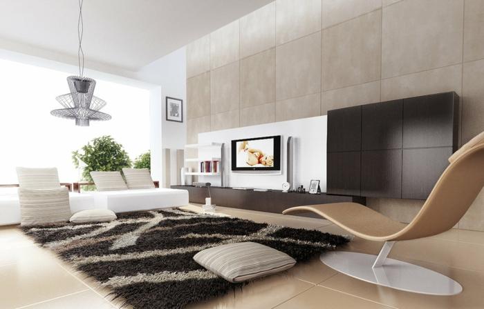 Le-tapis-de-salon-modern-salle-de-séjour-contémporaine-idée