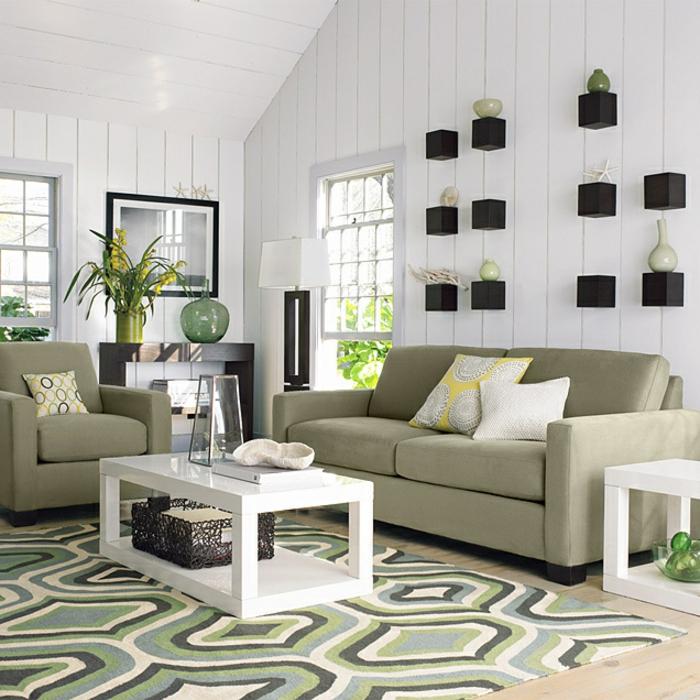 Le-tapis-de-salon-modern-salle-de-séjour-contémporaine-plantes
