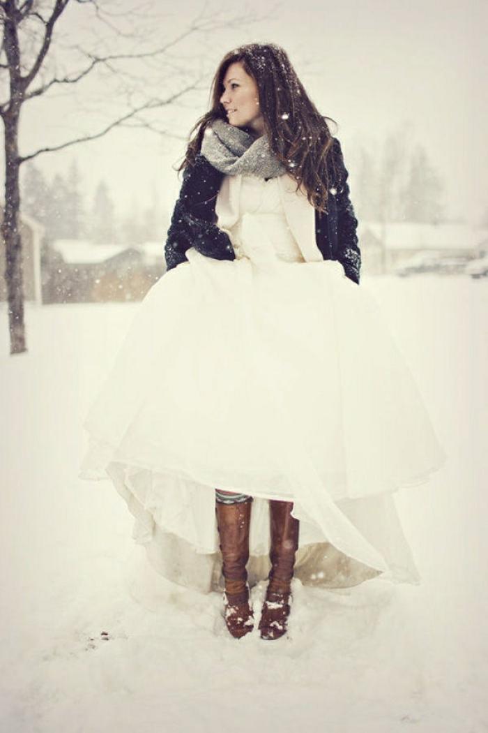 la robe de mari e d 39 hiver 45 photos qui vont vous charmer