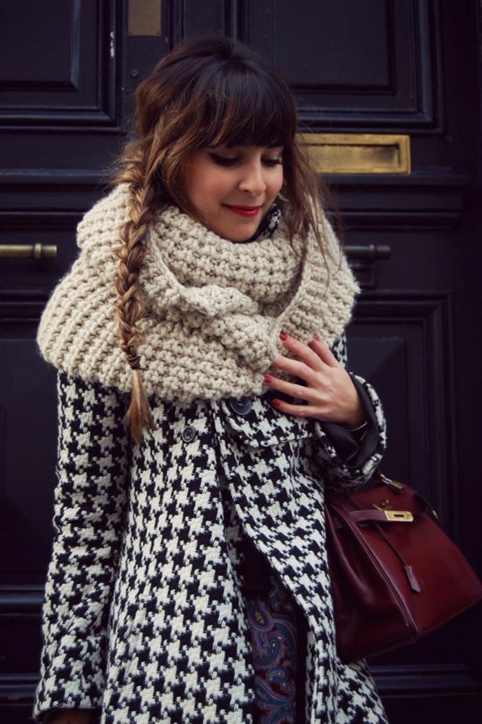 Mode-femme-écharpe-tube-féminine-chaude- belle