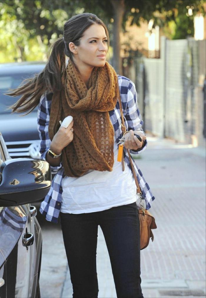 Mode-femme-écharpe-tube-féminine-chaude- cool