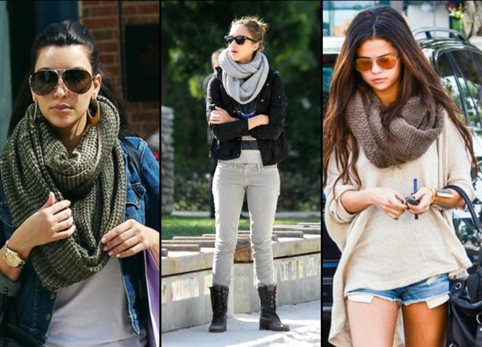 Mode-femme-écharpe-tube-féminine-chaude- idée