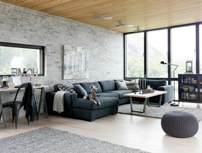 Salle-de-séjour-tapis-moderne-salon-contemporaine-idée-gris