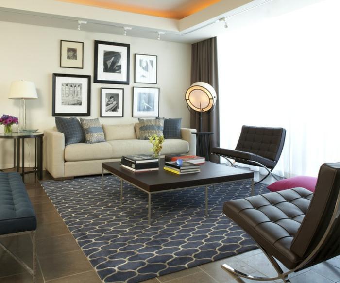 Salle-de-séjour-tapis-moderne-salon-contemporaine-idée-jolie