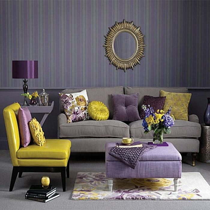 Salle-de-séjour-tapis-moderne-salon-contemporaine-idée-violet-unique
