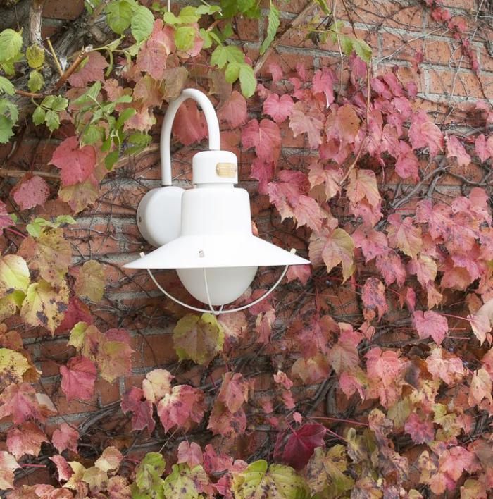 appliques-extérieures-lampe-cage-blanche