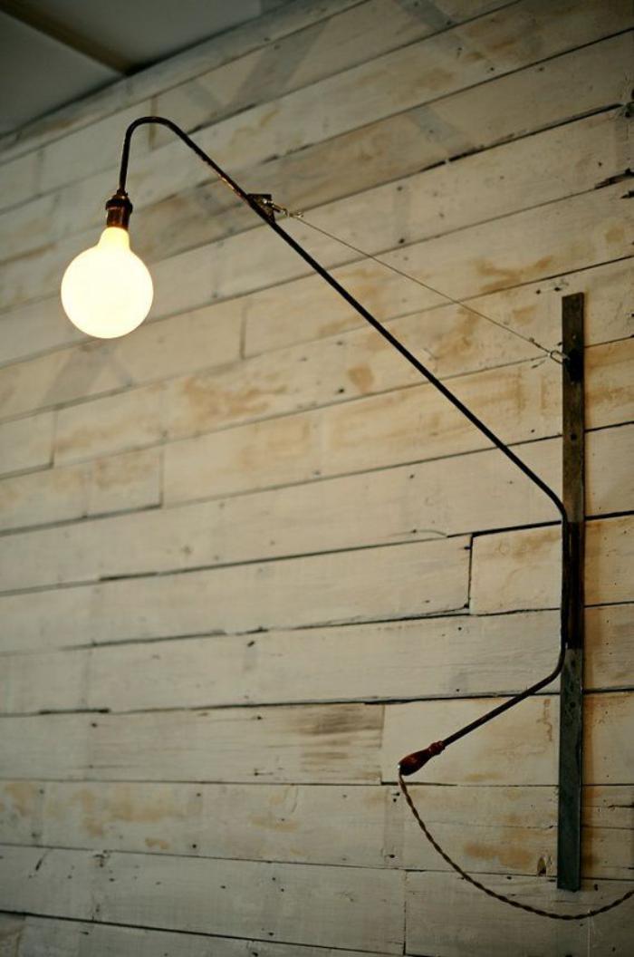 appliques-extérieures-long-bras-noir-et-ampoule-électrique
