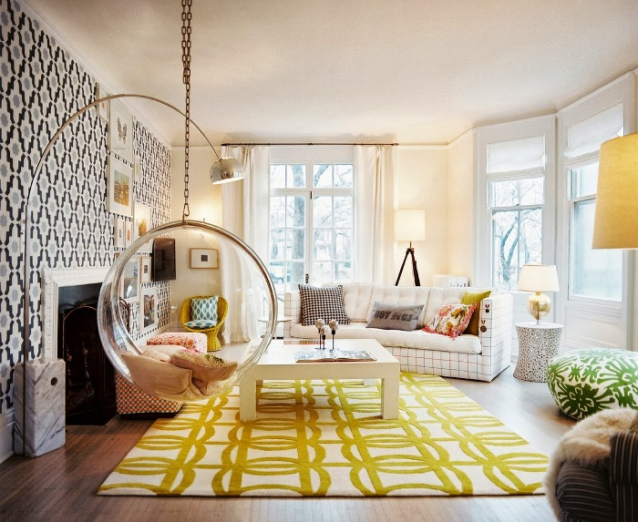 beauté-idée-pour-design-lampadaire-salon-design-magnifique-beau-intérieur-vert-frai-lampadaire de salon
