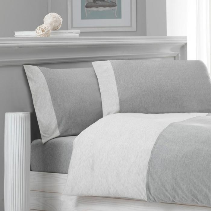 belle-chambre-à-coucher-amenagement-lit-ligne-idée-en-gris