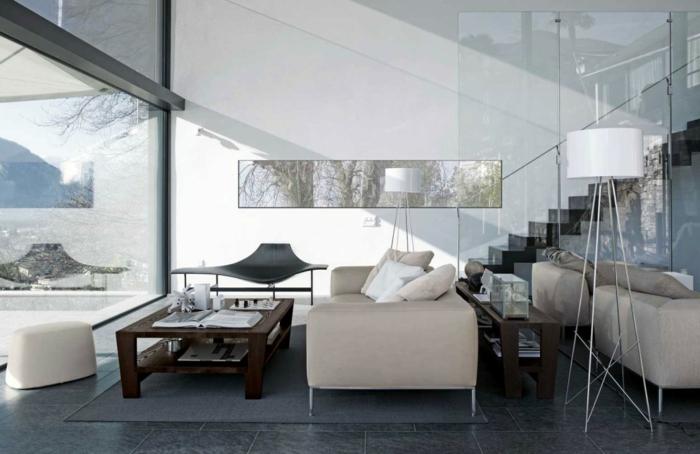 Le lampadaire de salon - 45 belles idées déco en images! - Archzine.fr