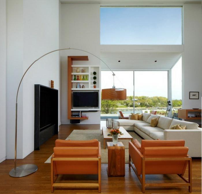 belle-idée-pour-design-lampadaire-salon-design-magnifique-orange