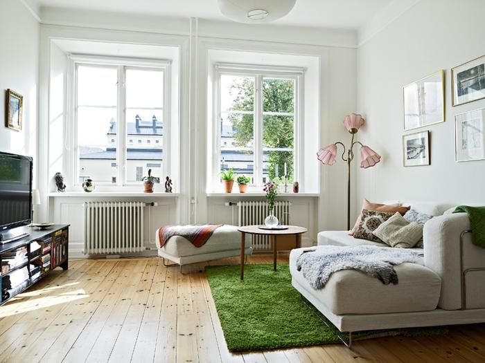 belles-chambres-à-coucher-proche-de-la-nature-bien-aménagée-tapis-coloré-peleuse-verte-tapis