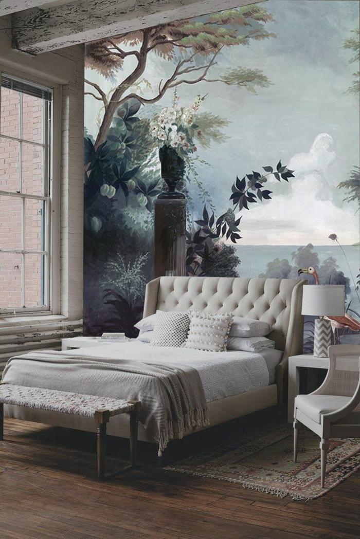 bonne-idée-chamber-à-coucher-romantique-bien-aménagée-tapis-coloré