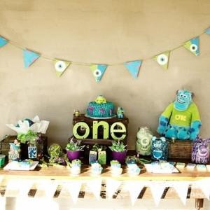 Idée décoration anniversaire Monstres et compagnie