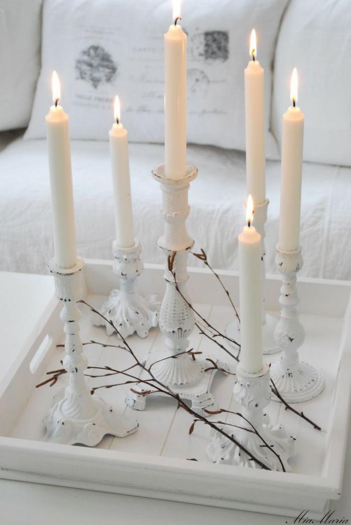 bougie-blanche-déco-bougies-blanches-élégante