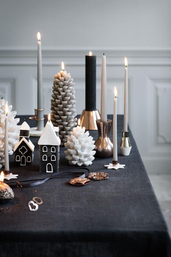 bougie-blanche-décoration-de-Noel-originale