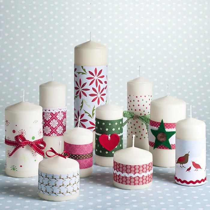 bougie-blanche-décorative-belles-bougies-de-couleur-blanche