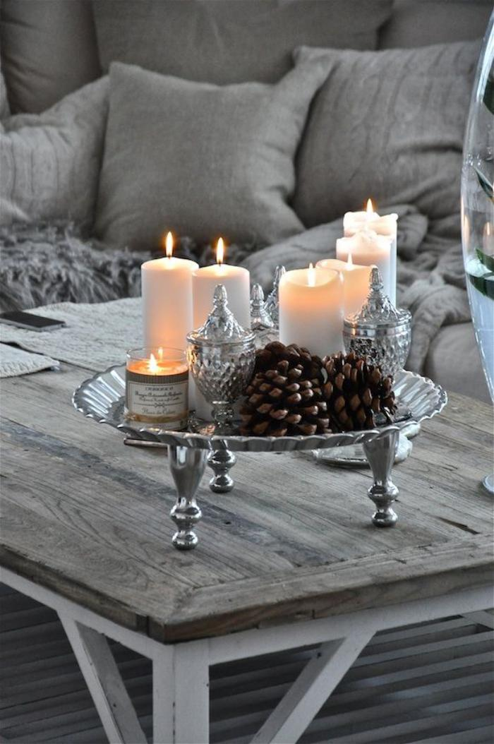 Etoiles déco suspendues et portebougie avec bougies led