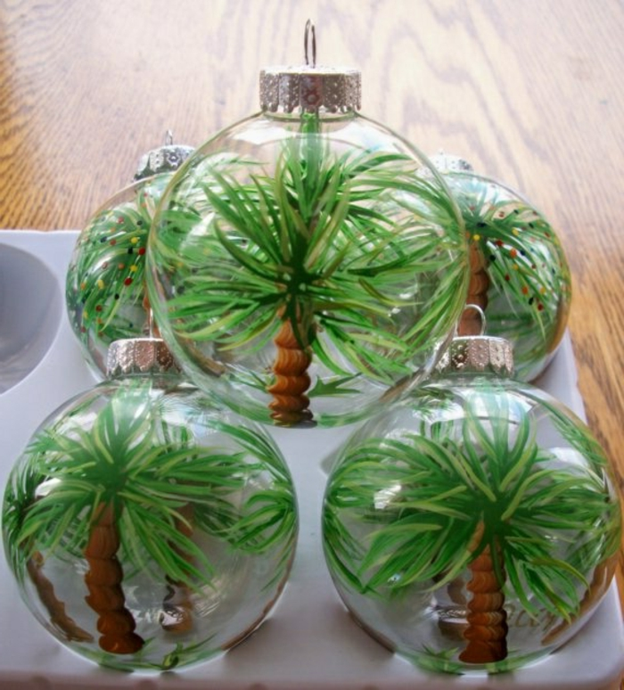 48 diy id es pour cr er une boule de no l originale for Boule de noel plastique a decorer