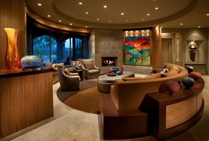 canapé-arrondi-salon-original-aménagement-cosy-chaleureux