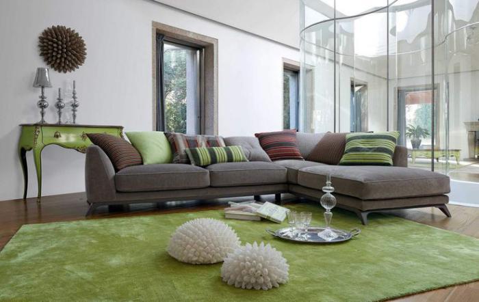 canapé-composable-d'angle-tapis-vert-salon-contemporain