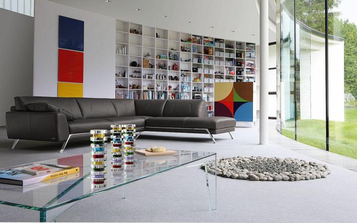 canapé-composable-salon-roche-bobois-aménagement-extravagant