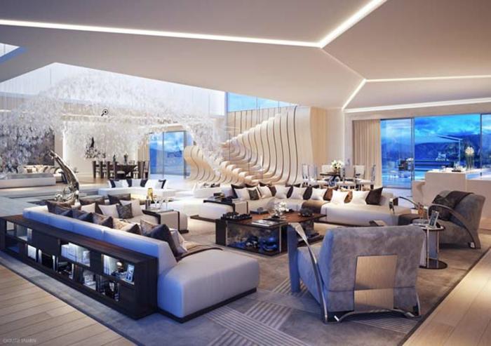 canapé-lit-confortable-salle-de-séjour-ambiance-cool