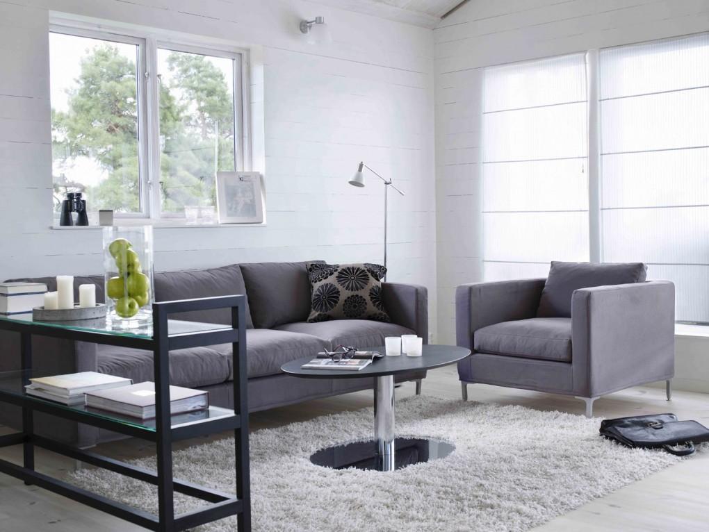 Belle decoration a la maison avec le tapis shaggy blanc for Tapis de sol avec canape ressorts ensachés