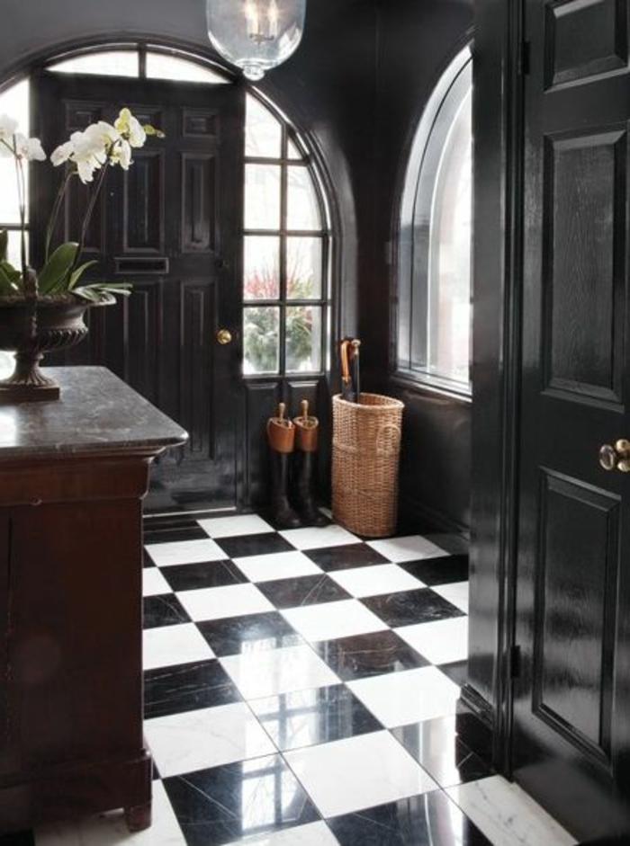 Vous cherchez des id es pour un carrelage noir et blanc - Couloir noir et blanc ...