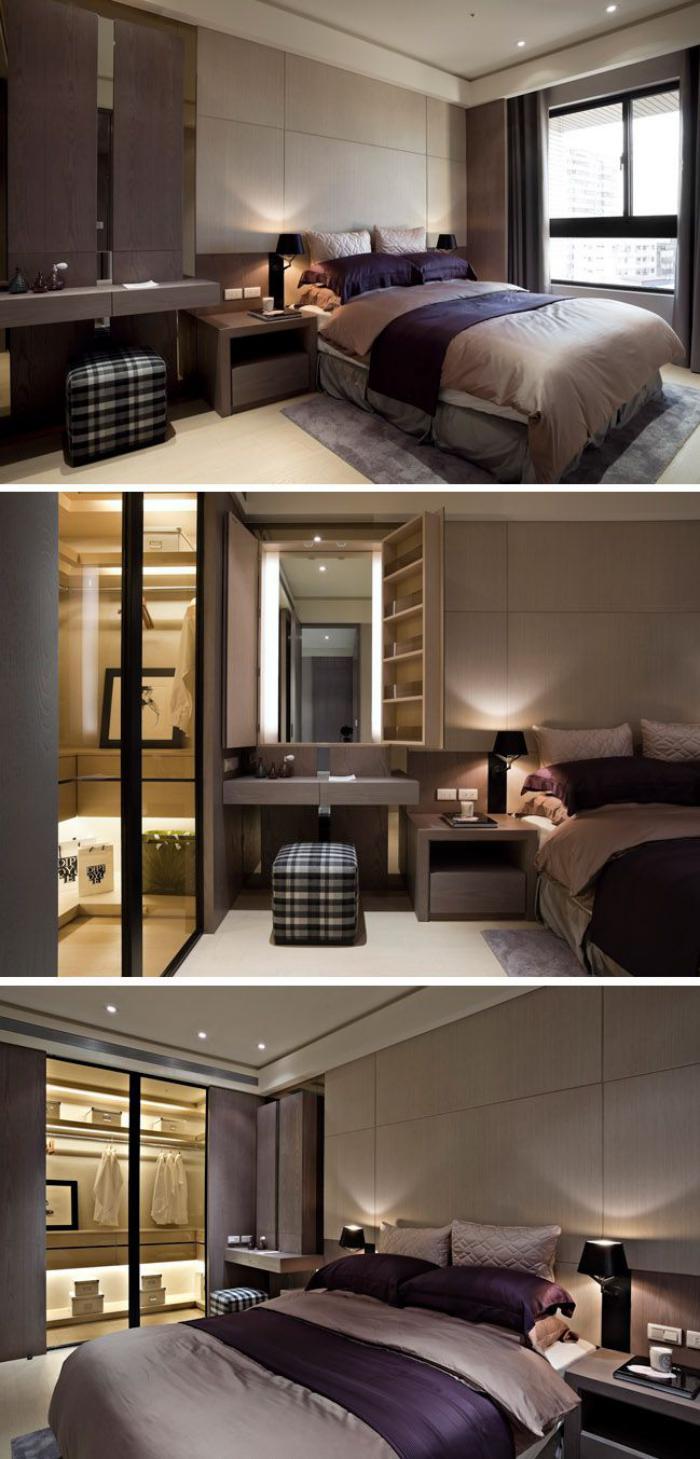 chambre-à-coucher-moderne-couleurs-chaudes