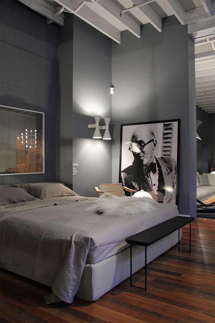 chambre-à-coucher-moderne-appartement-plan-ouvert