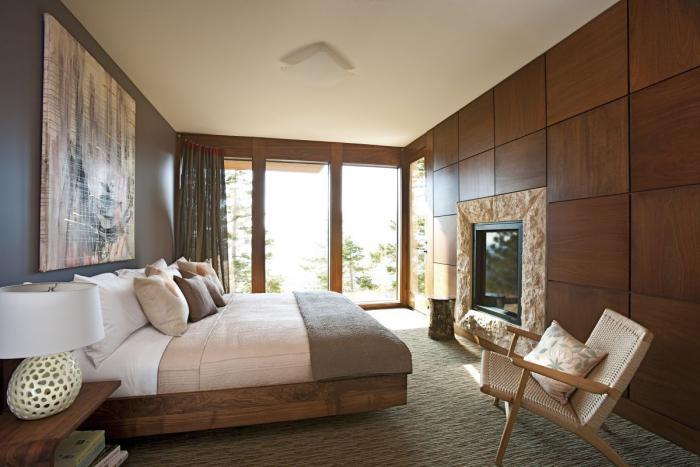 chambre-à-coucher-moderne-déco-bois-de-chambre-à-coucher