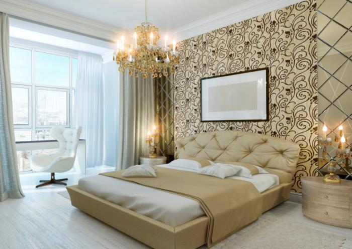 Chambre à coucher moderne couleur dor quelle décoration