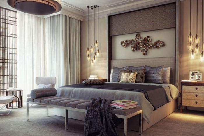 chambre-à-coucher-moderne-en-gris-et-taupe