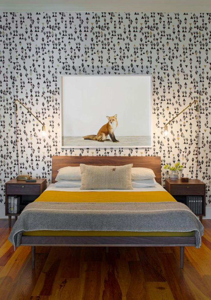 chambre-à-coucher-moderne-esprit-mid-century